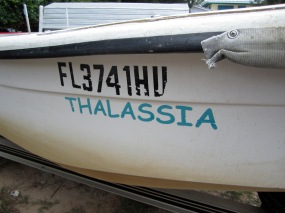 Our lab's boat, the Thalassia!