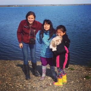 Me, Lenora, Flossie, and Tinkerbell near Kaktovik lagoon
