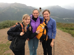 Stephanie, Tara, and me halfway up Mt. Healy. Denali National Park.
