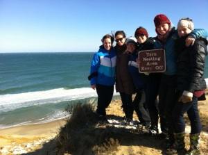Group hike in Truro, MA.