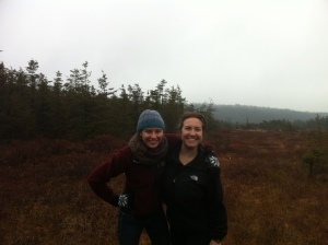 Hiking in Ponkapoag State Park, MA with my best friend, Chelsea.