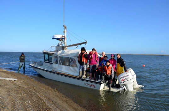 Dr. Dunton took the older students for a ride on the R/V Proteus
