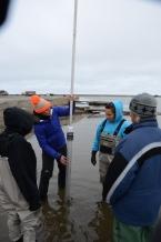 Sediment coring at the lagoon!