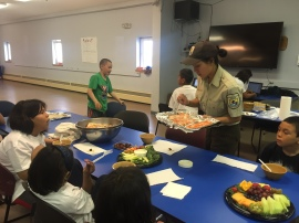 On our Culture Day, Allyssa cooked food from all over Alaska for the kids to taste