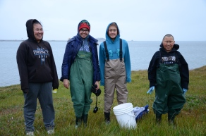 Biology Day field crew prepared for the chilly end-of-summer weather!