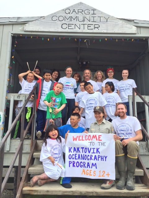 Group pic in front of the Community Center