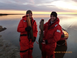 Jeff and Craig are pleased with their cores (Photo credit: Greta Burkart)