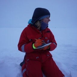 Taking notes at -20*C isn't as easy as it looks!